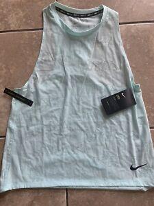 NWT Nike Dry Air M Running Mesh Mint Green Tank Top