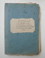 Konvolut v. 100 handgeschr. Org.-Dokumenten d. Gemeinde Wall / Warngau 1840-1890