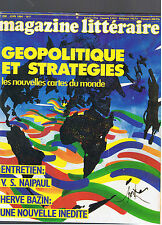 MAGAZINE LITTERAIRE N°208 1984 GEOPOLITIQUE ET STRATEGIES
