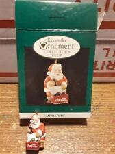 Hallmark Keepsake Ornament Club Cool Santa Coca Cola Miniature Ornament 1993