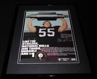 Jon Kolb 1979 National Roll Framed 11x14 ORIGINAL Vintage Advertisement Steelers