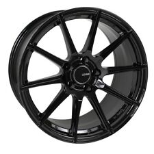 18x8 Enkei TS10 5x112 +45 Gloss Black Rims Fits VW cc eos golf rabbit