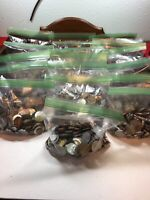 2 Pounds+ World Coin Bags - FREE FAST SHIPPING - Pretty Cool Bunches Of Coins!
