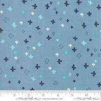 Moda Quilt Fabric Desert Song Storm by half-yard 13306 20 light blue