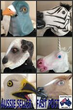 MIX Animal Mask Creepy Horse Head Halloween Costume Prop Party Gangnam Latex Toy