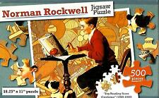 """Jigsaw Puzzle 500pc Norman Rockwell Boy Reading Sears 18-1/4""""X11"""" NEW #TY45"""