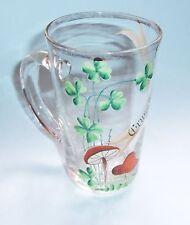 Schönes uraltes Andenken Glas Gruss aus Crefeld Krefeld Emailmalerei vor 1945 !