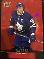 * 2020-21 Upper Deck Tim Hortons NHL Hockey - Red Die Cut John Tavares # DC42 *