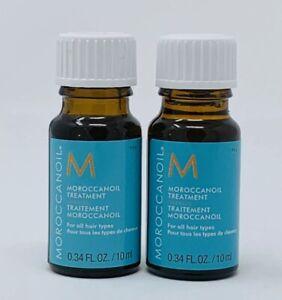 2x Moroccan oil Morrocanoil Hair Treatment 0.34oz/10ml Each For All Hair Types