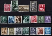 P135093/ SPAIN STAMPS – YEARS 1953 - 1955 MINT MNH / MH – CV 100 $
