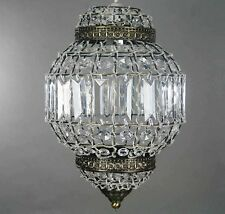 Morrocan Lantern Style Antique Brass Clear Acrylic Ceiling Light Shade Pendant