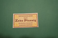 Notgeld, 1. Weltkrieg, Gefangenenlager, Friedrichsfeld, Voerde,  10 Pfennig