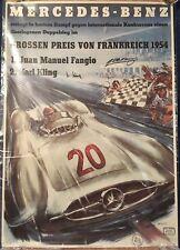 Rennplakat Mercedes-Benz Großer Preis von Frankreich 1954 Liska Fangio signiert