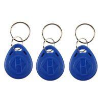 100PCS Llavero de Proximidad Programable Color Azul 125kHz RFID ID Card M2R4