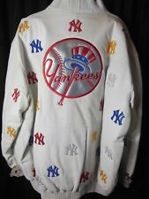 New York Yankees Mens G-III Leather Front Zipper Jacket 6XL