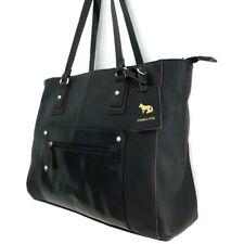 Emma Fox X-Large Black Leather Shoulder Lap Top~Travel Bag Read Description