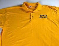 Southern Jaguars Polo Shirt Mens XL Student Alumni University Yellow Golf Grad