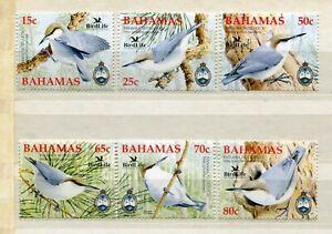 FAUNA_802 2006 Bahamas birds 6 pc MNH Combined payments & shipping