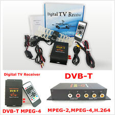 Car Auto Mobile Digital HD Mpeg2 Mpeg4 TV Receiver Box Tuner Dual Antenna TV Box