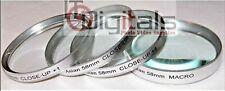 58mm +1 +2 +4 & MACRO +10 CLOSE-UP LENS FILTER SET KIT 58 mm