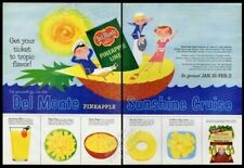 1957 Del Monte pineapple boat classic happy 50s family art vintage print ad