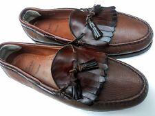 Allen Edmonds 11EEE Nashua  Brown Pebbled Leather Kiltie Tassel Loafer VgC!!