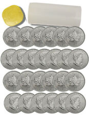 Roll of 25 2015 Canada 1 oz .9999 Silver Maple Leaf $5 BU Coins SKU33764