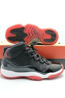 Nike Air Jordan 11 Retro Bred OG Playoffs Black True Red (GS) 378038-061 Size 5Y