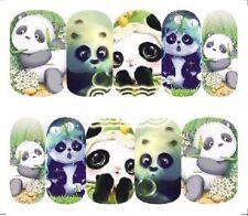 Nail Art Calcomanías Traslados Pegatinas pandas Lindo (A-1295)