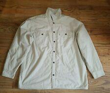 Levi's Men's Beige Khaki Winter Button Jacket flannel Lining SZ  2XL