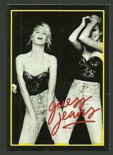 Claudia Schiffer Scarce Guess Jeans Model Card from Italy B