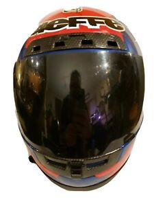 Vintage Bieffe GR 1500 Helmet size S 56 Made In Italy Multicolor w/Visor ~