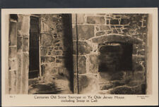 Channel Islands Postcard - Old Stone Staircase in Ye Olde Jersey House RS5790
