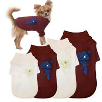 Small Dogs Coat Knitted Dog Apparel Warm Dog Sweaters Puppy Chihuahua POLO Coat