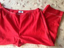 LUCIA SPORT  pantalon pantacourt femme polyester coton rouge Taille 42