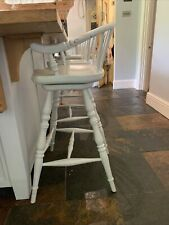 More details for chalon wooden swivelling stool £275
