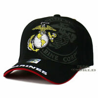 U.S. MARINES Hat USMC Insignia Military Official Licensed Baseball Cap-Black