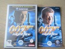 JEU NINTENDO GAMECUBE JAMES BOND 007 NIGHTFIRE COMPLET ,