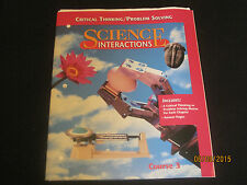 Science Interactions Course 3 Critical Thinking & Problem Solving & Answer  jk80