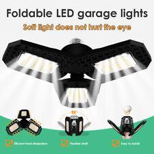 E27 3-Leaf Deformable Led Light Super Bright Workshop Garage Indoor Folding Lamp