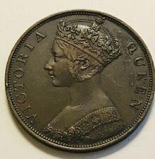 1865 Hong Kong one cent - beautiful details