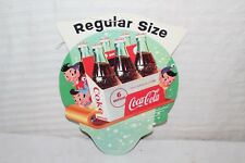 Vintage 1956 Coca Cola Soda Pop Gas Oil 2 Sided String Hanger Sign~Nice