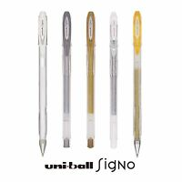 5 x Uni-Ball Signo Sparkling Glitter, Metallic and Pastel Pen Set
