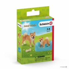<>< Shiba Inu mother dog & puppy sweet strong Schleich Anywheres a Playground