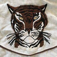 Vintage 1970s Tiger Embroidered 70s Shirt Medium