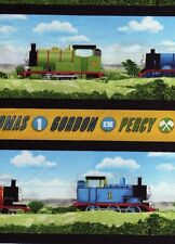 Half Meter Thomas The Tank Engine All Aboard Stripe 100% Cotton Quilting Fabric