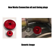 03-05 YAMAHA YZ450F RED Works connection engine plug set oil timing plugs kit