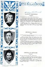 1932 Hartford High  School Yearbook~Photos~History~Autographs~Local Ads~++++
