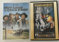 DISNEY Hot Lead & Cold Feet & INTO THE WEST DVD Lot Like New Condition FREE SHIP