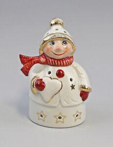 9942811 Wagner&Apel Porzellan Figur Teelicht Weihnachts-Wichtel H15,5cm
